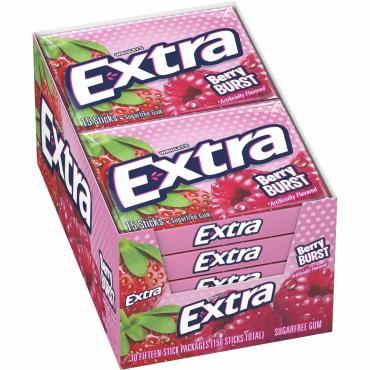 Жевательная резинка Extra Berry Burst Sugarfree 10 шт.