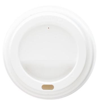 Крышка Street Food белая пластиковая с питейником