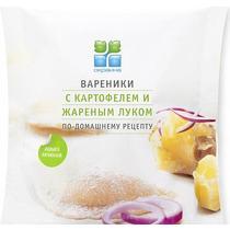 Вареники Окраина с картофелем и жареным луком по-домашнему рецепту замороженные