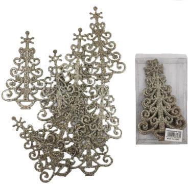 Елочные украшения Золотая елка 8 шт