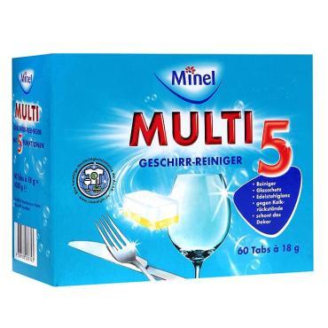 Таблетки для посудомоечных машин Minel Multi 5 60шт.