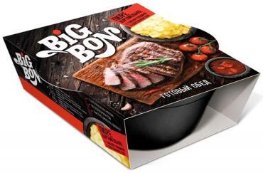 Пюре картофельное Big Bon Max с кусочками тушеной говядины