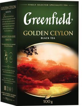 Чай Greenfield Golden Ceylon черный листовой