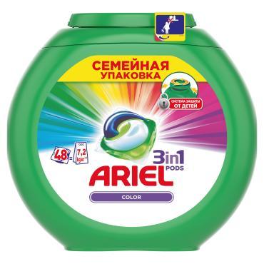 Капсулы для стирки Ariel Color 3в1 48 шт.