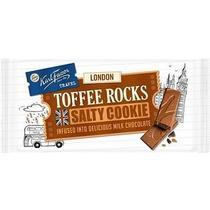 Шоколад Karl Fazer Travel London молочный с соленым печеньем с какао и кусочками карамели 130 гр.