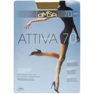 Колготки Omsa Attiva 70 Den Caramello карамельный 5XL