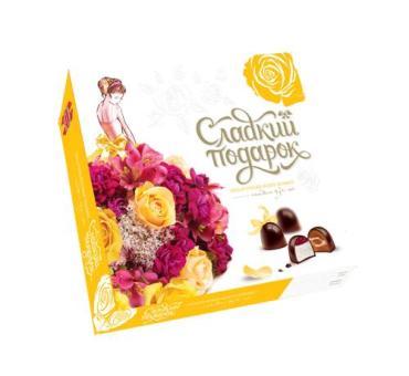 Набор конфет Коммунарка Сладкий подарок желтый