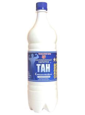 Кисломолочный напиток газированный Лесная сказка центр Тан классический, 1 л., Пластиковая бутылка