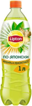 Чай Lipton холодный Зеленый Имбирь и лемонграсс, 1 л, ПЭТ