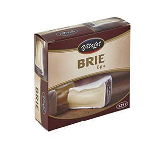 Сыр VITALAT Brie 60% 125гр (белая плесень)