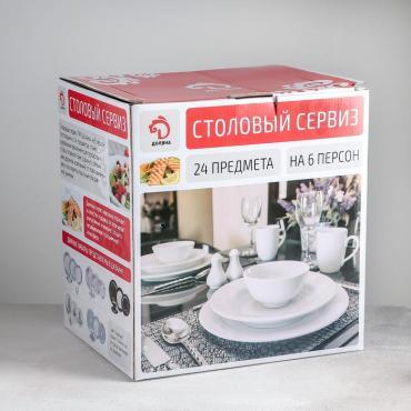 Сервиз столовый Доляна Ласточкино гнездо, 24 предмета