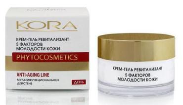 Крем-гель ревитализант Kora 5 факторов молодости кожи