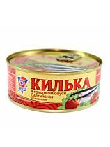 Килька обжаренная в т/с, 5 Морей, 270 гр., жестяная банка
