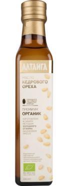 Масло кедрового ореха органик нерафинированное Алтайга Премиум, 250 мл., стекло