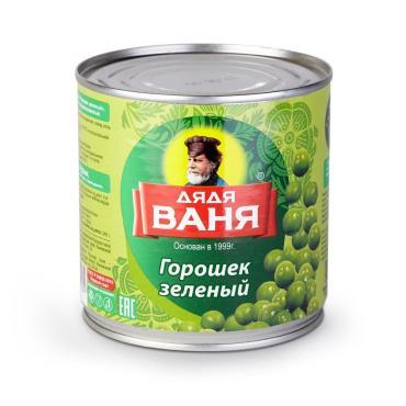 Горошек консервированный зелёный Дядя Ваня 400 гр.