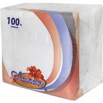 Салфетки Лилия бумажные однослойные 24 см х 24 см белые