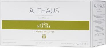 Чай зеленый Althaus Grun Matinee 20 пакетов для чайника