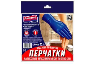 Перчатки хозяйственные Avikomp Glov Professional Латексные максимальной плотности М 2шт.