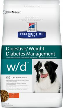 Корм для собак при сахарном диабете, при избыточном весе, курица, Hill's Prescription Diet, 12 кг., дой-пак