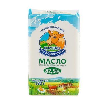 Сливочное масло традиционное 82,5%, Коровка из Кореновки, 180 гр., фольга