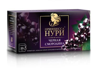Чай Принцесса Нури Черная смородина черный 25 пакетиков, 37.5 гр., картон