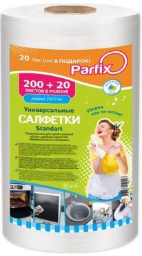 Тряпка/салфетки в рулоне 200+20 шт. в рулоне Parfix Standart, 339 гр., пластиковый пакет
