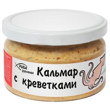 Рыбные консервы Европром Рыба рубленая Кальмар с креветками