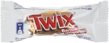 Конфеты шоколадные minis белый шоколад, Twix, 2,7 кг., коробка