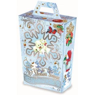 Новогодний подарок Снегопад, Кондитерский дом Белочка, 500 гр., картон