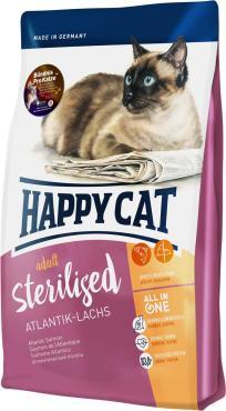 Корм сухой Happy Cat Sterilised Атлантический лосось для взрослых кошек
