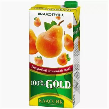 Сок Gold классика груша-яблоко