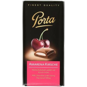 Шоколад PORTA молочный Вишня