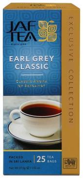 Чай Jaf Tea Earl Grey Classic черный с ароматом бергамота, 25 пак.