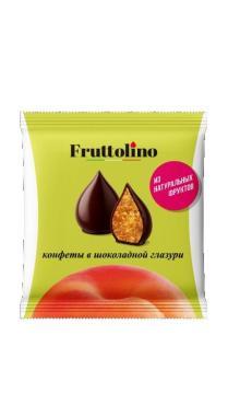 Шоколадные конфетыFruttolino Персик шоколадные 140 гр.
