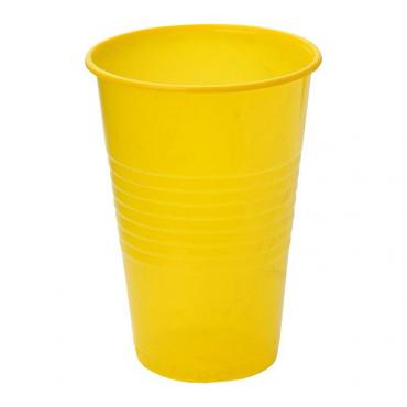 Стакан для холодного и горячего 200 мл., желтый, ПП 100 шт/уп., 3000 шт/кор., Альт-Пласт, пластиковый пакет