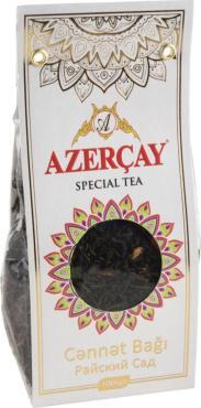 Чай чёрный среднелистовой Азерчай Райский сад с яблоком и айвой 100 гр