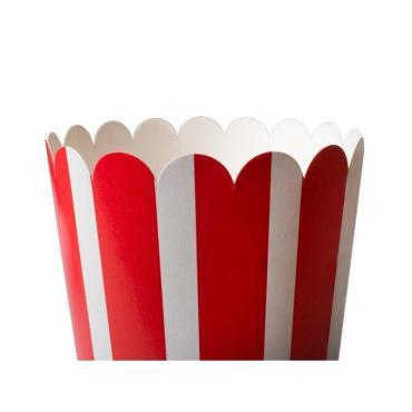 Упаковка для попкорна 1000 мл, полосатая