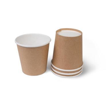 Бумажный стакан, 100 мл (макс. 115 мл), односл., крафт