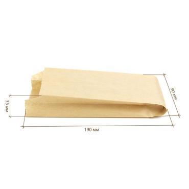 Пакет с пл. дн., 90*35*190 мм, крафт