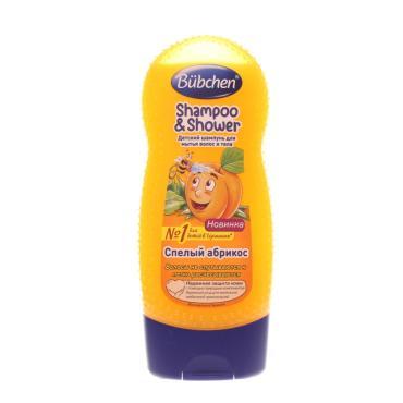 Шампунь детский для мытья волос и тела Bubchen Спелый абрикос, 230 мл., ПЭТ
