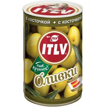 Оливки ITLV зеленые с косточкой