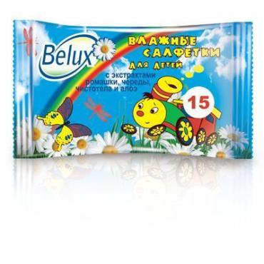 Влажные салфетки Belux Baby С экстрактами ромашки, череды, чистотела и алоэ 15шт.