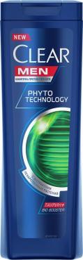 Шампунь против перхоти Clear Men Phytotechnology С экстрактами лекарственных растений