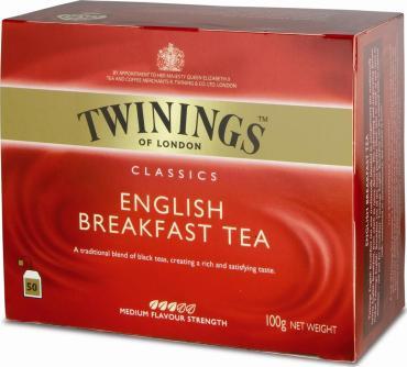 Чай Twinings English Breakfast черный пакетированный