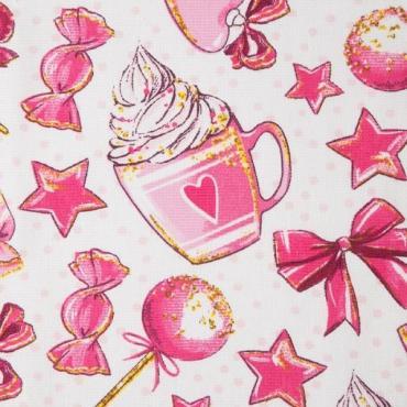 Скатерть Доляна Розовые сладости 180х149 см., 100% хлопок, 164 г/м2