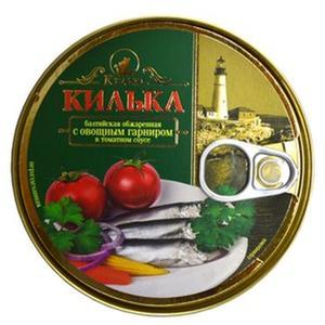 Килька с овощным гарниром, Keano, 240 гр., жестяная банка