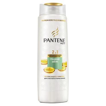 Шампунь Pantene Pro-V 2в1 гладкий шелк