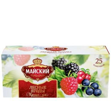 Чай черный Майский Лесные Ягоды 25 пакетов