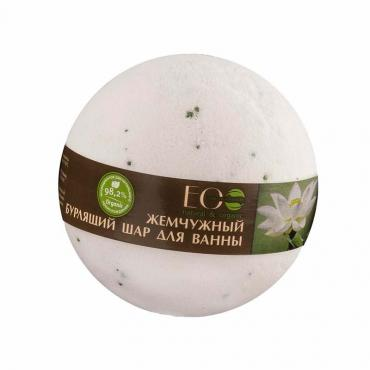 Шар для ванн бурлящий Ecolab Белый лотос и Пальмроза, 220 гр., бумажная упаковка