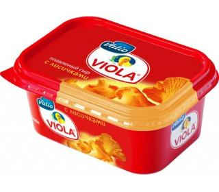 Сыр плавленый с лисичками 60%, Viola, 400 гр., Пластиковая банка